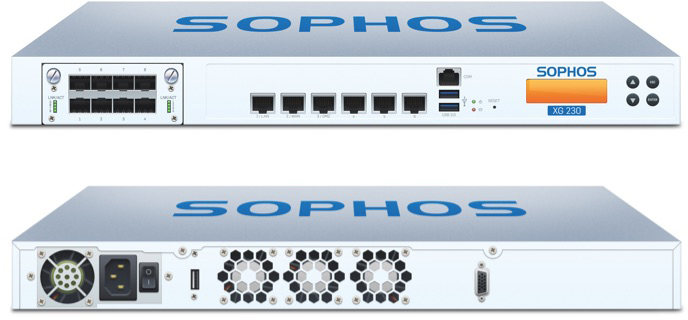 Sophos XG 230 Front and Back View