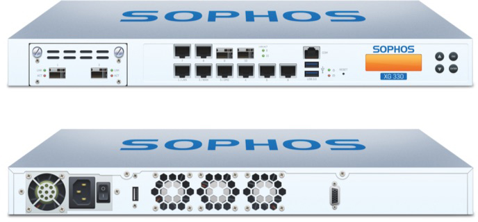 Sophos XG 330 Front and Back View