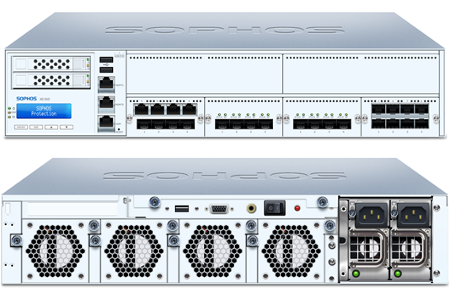 Sophos XG 550 Front and Back View