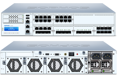 Sophos XG 650 Front and Back View