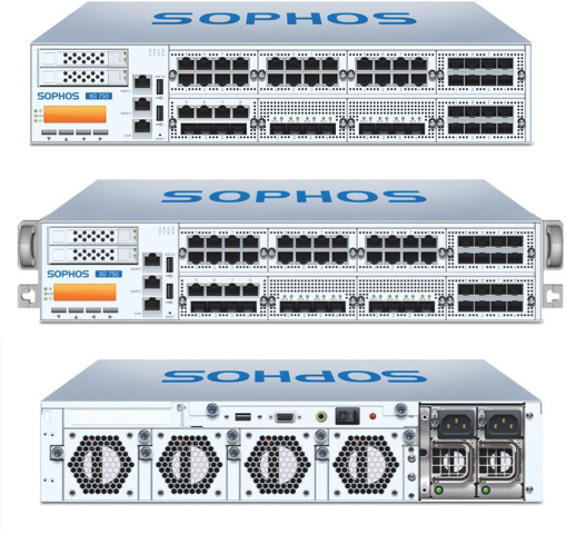 Sophos XG 750 Front and Back View