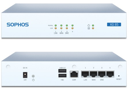 Sophos XG 85w Front and Back View