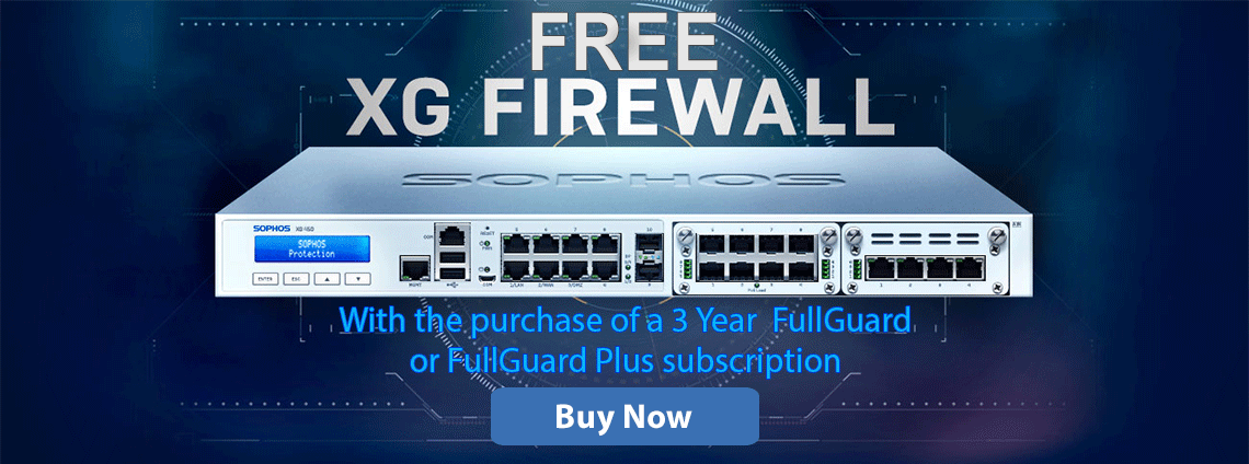 Free XG Firewall with a 3-Year FullGuard or FullGuard Plus Subscription
