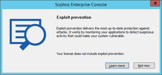 Sophos Endpoint eXploit Prevention