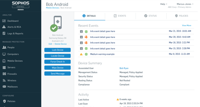 Sophos Central Mobile Security (previously Sophos Cloud Mobile Security)
