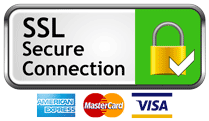 SSL Secured Connection. Payment methods accepted: American Express, MasterCard and Visa